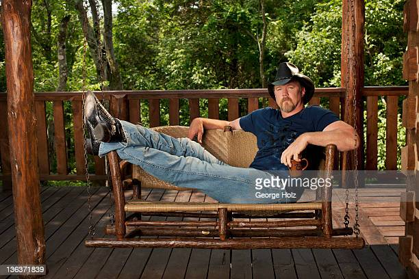 Country singer Trace Adkins is photographed for People Magazine on May 1 2011 in Nashville Tennessee ON EMBARGO UNTIL NOVEMBER 15 2011