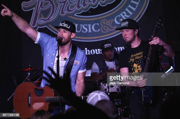 Country Singer/Songwriter Chase Rice revisits early roots with limited run of 'Pub Shows' Rice with Drummer Jeremy Roberson and Guitartist Chris...