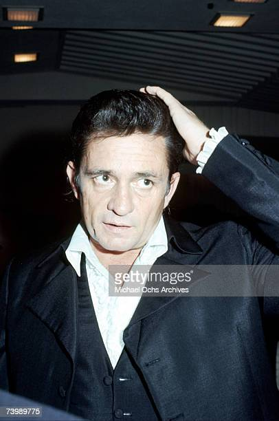 Country singer/songwriter Johnny Cash attends an event in September 1969