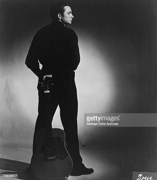 Country singer/songwriter Johnny Cash poses for a portrait in 1957 Memphis Tennessee