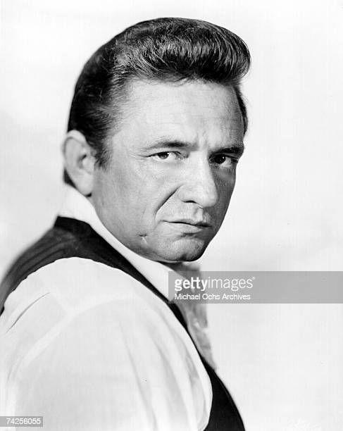 Country singer/songwriter Johnny Cash poses for a portrait in circa 1969