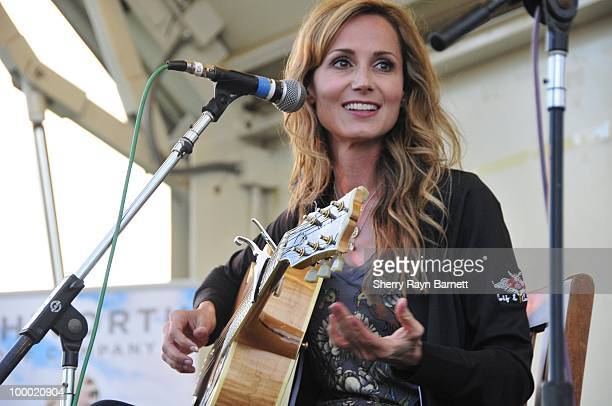 Country Star Chely Wright performs live at the Golf and Guitars charity event on May 18 2010 at the Alister MacKenzie Golf Course at Haggin Oaks in...
