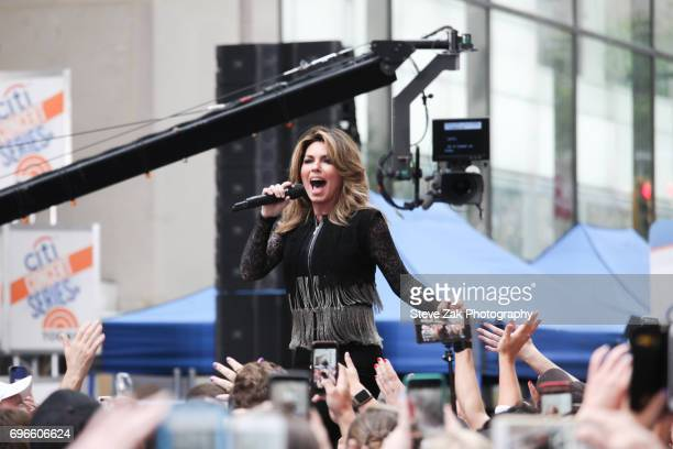 Country star Shania Twain performs on NBC's 'Today' show at Rockefeller Plaza on June 16 2017 in New York City