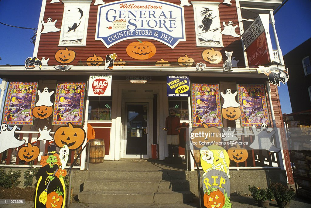 country store in williamstown vt covered with halloween decorations - Halloween Decorations Store