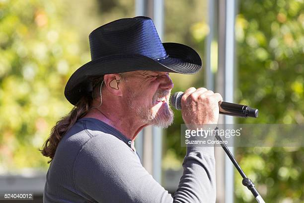 Country superstar Trace Adkins and performs at Carnival's Ultimate Cowboys Fan Fest on October 18 2015 at Klyde Warren Park in Dallas Texas More than...