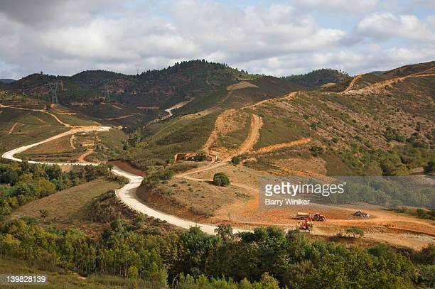 Country trails and roads, peaceful countryside and wooded slopes, Portimao, Algarve, Portugal