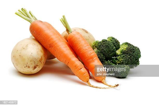 Land Gemüse, isoliert gegen weiße, gesunde Ernährung