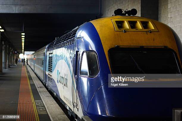 A Countrylink interstate MelbourneSydney train departing platform one At Southern Cross Train Station Melbourne Australia