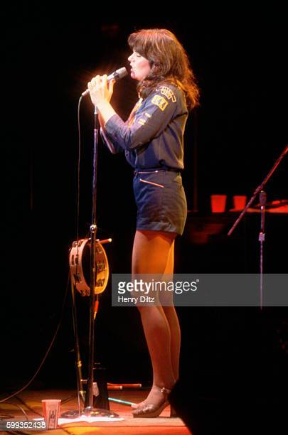 Countryrock star Linda Ronstadt sings live on stage Ronstadt became a major singing star in the seventies with a mix of country and rock backed by...
