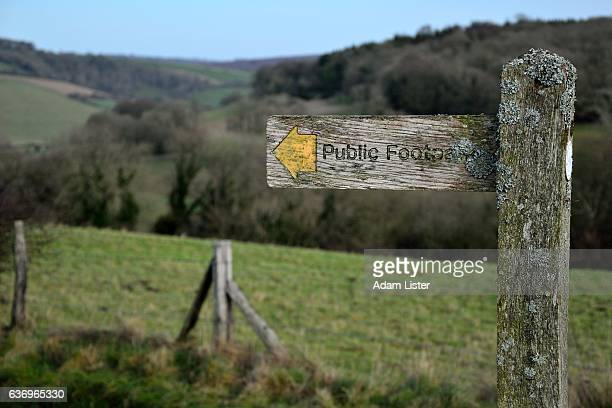 Countryside footpath sign