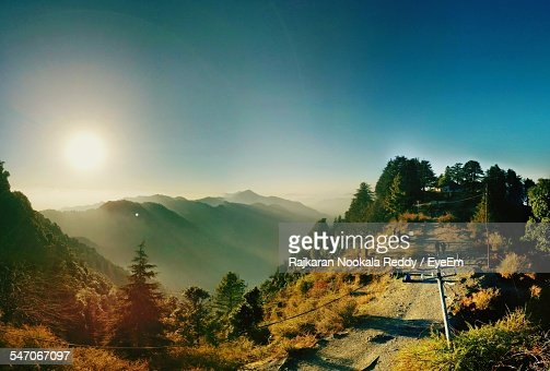 Countryside Landscape Against Clear Sky