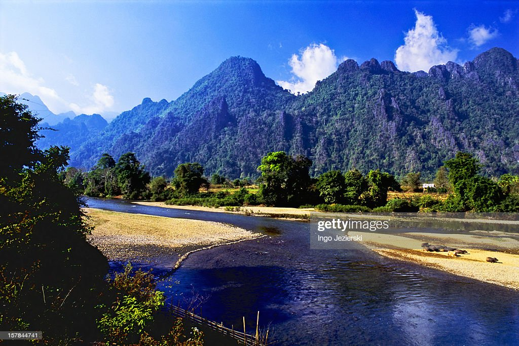 Countryside scene in Laos : Stock Photo