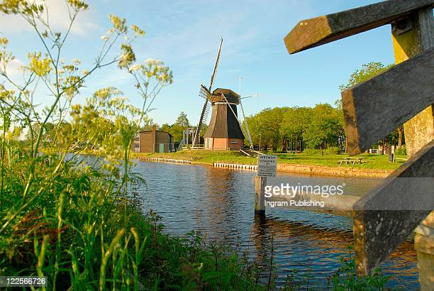 Countryside view of Dutch Windmill