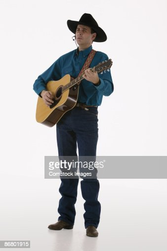 Country-western singer with a guitar