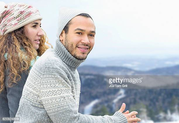 Couple admiring scenic view