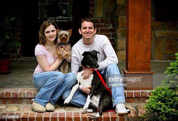 Couple and Dogs