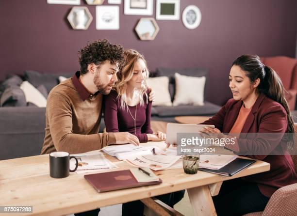 Couple and financial advisor