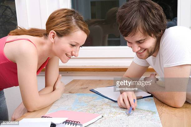 Couple and Map