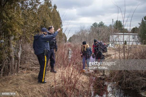 A couple and their baby who claimed they were from Syria are warned by the RCMP they will be arrested if they cross the CanadaUS border near...