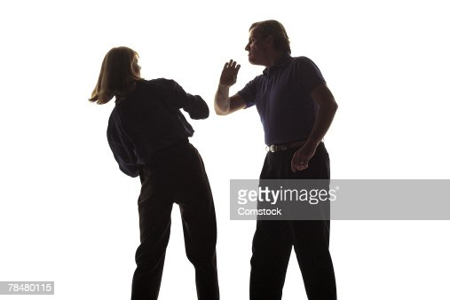 Couple arguing , domestic abuse : Stock Photo