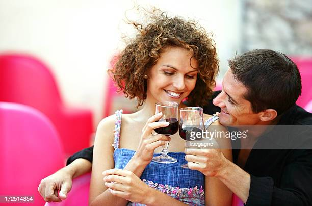 Couple at a bistro