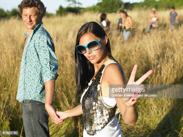 Couple at a festival