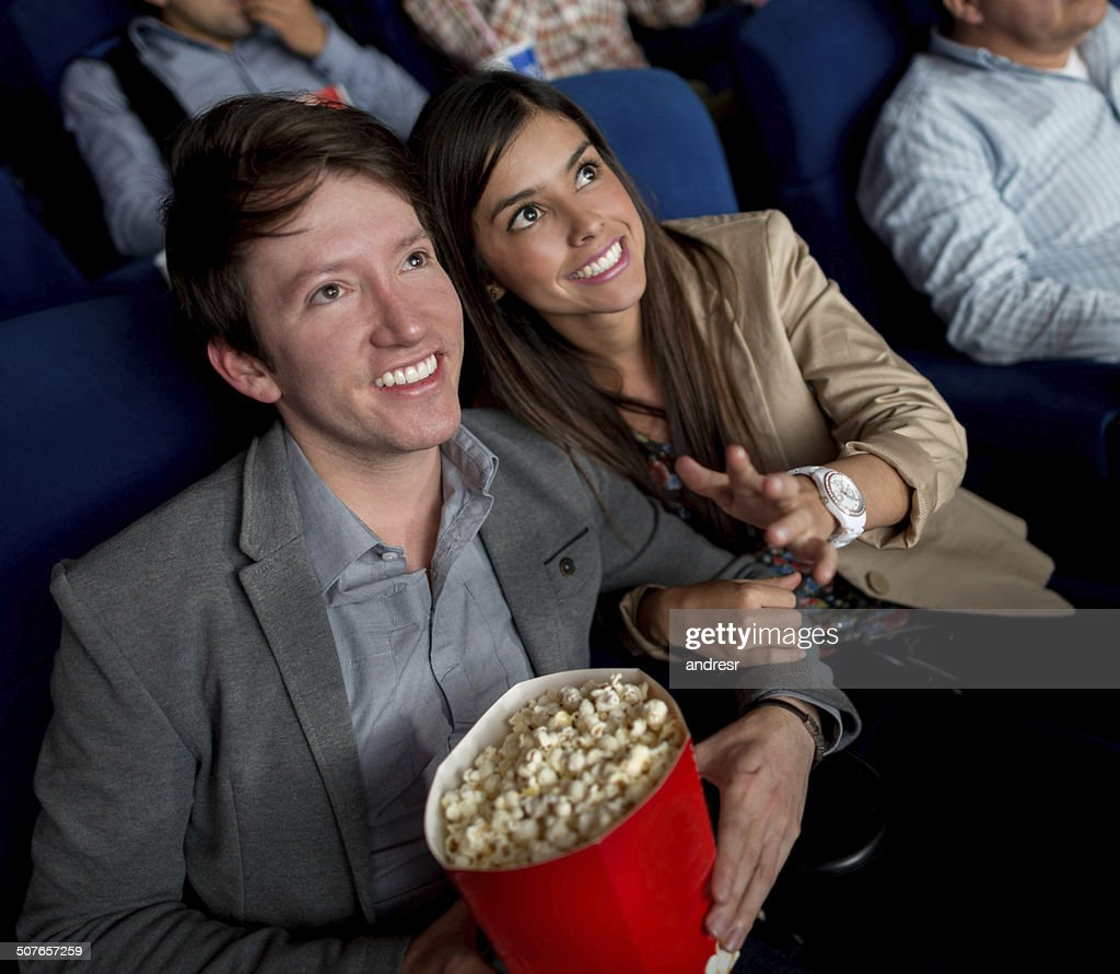 Couple at a movie theatre