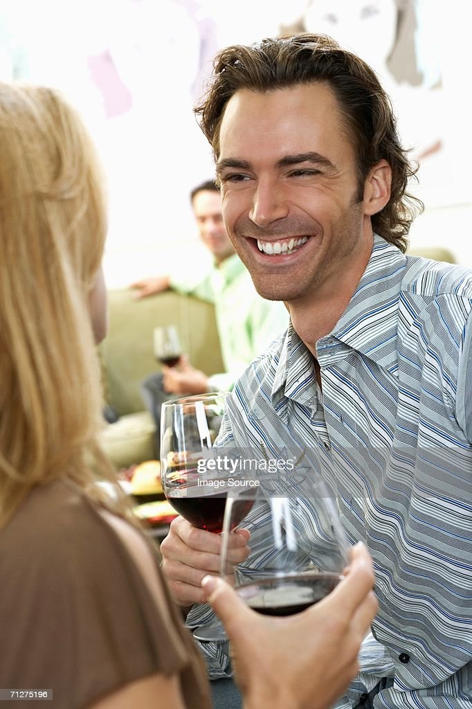 Couple at a party : Stock Photo