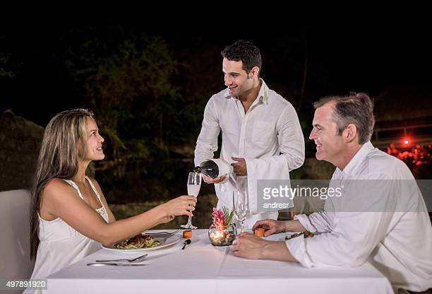 Couple at a romantic dinner