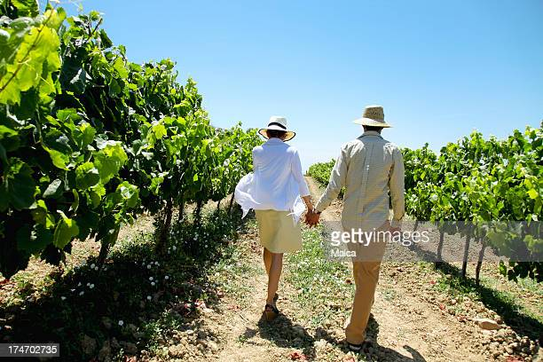 Couple at a vineyard