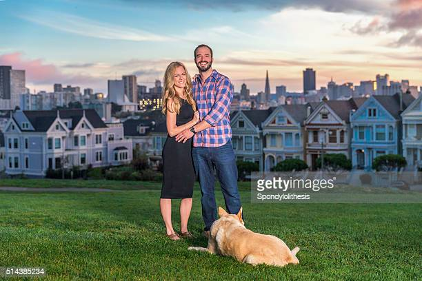 Couple  at Alamo square  San Francisco