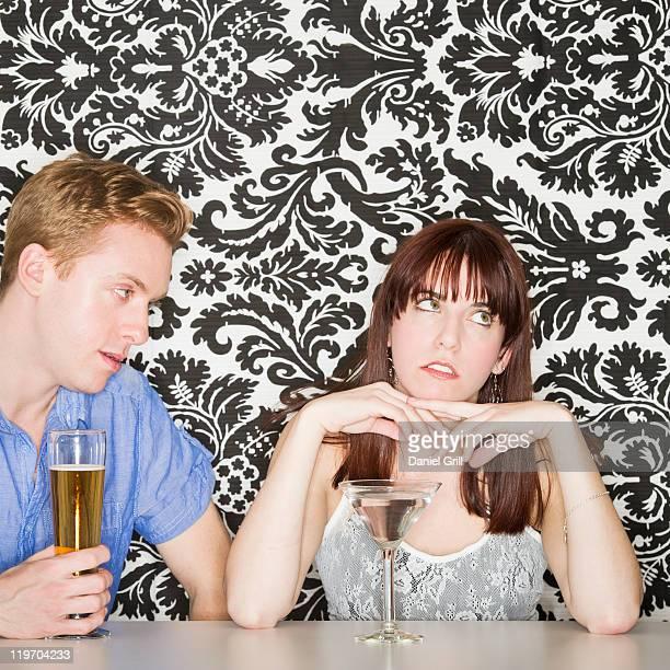 Couple at bar counter