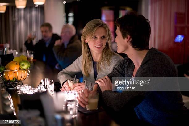 Couple at bar