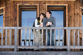 Couple at chalet