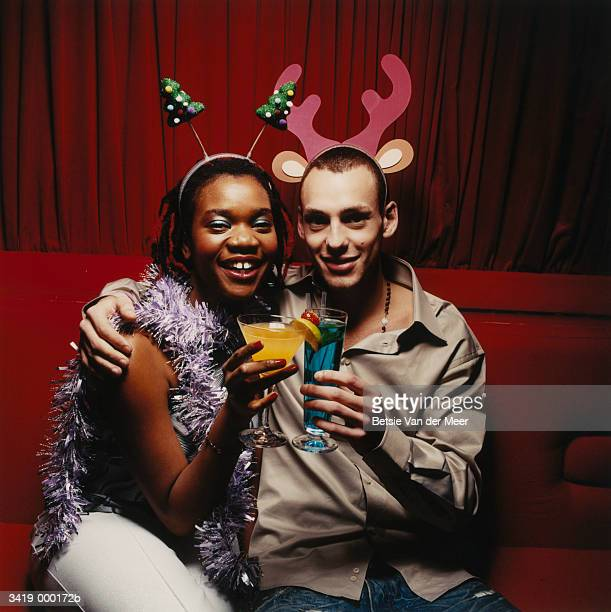 Couple at Christmas Party