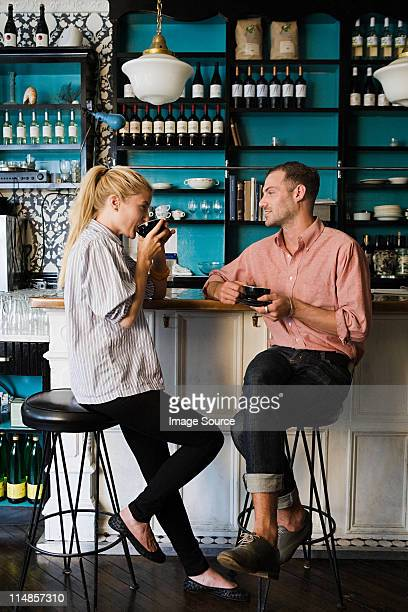 Couple at coffee bar