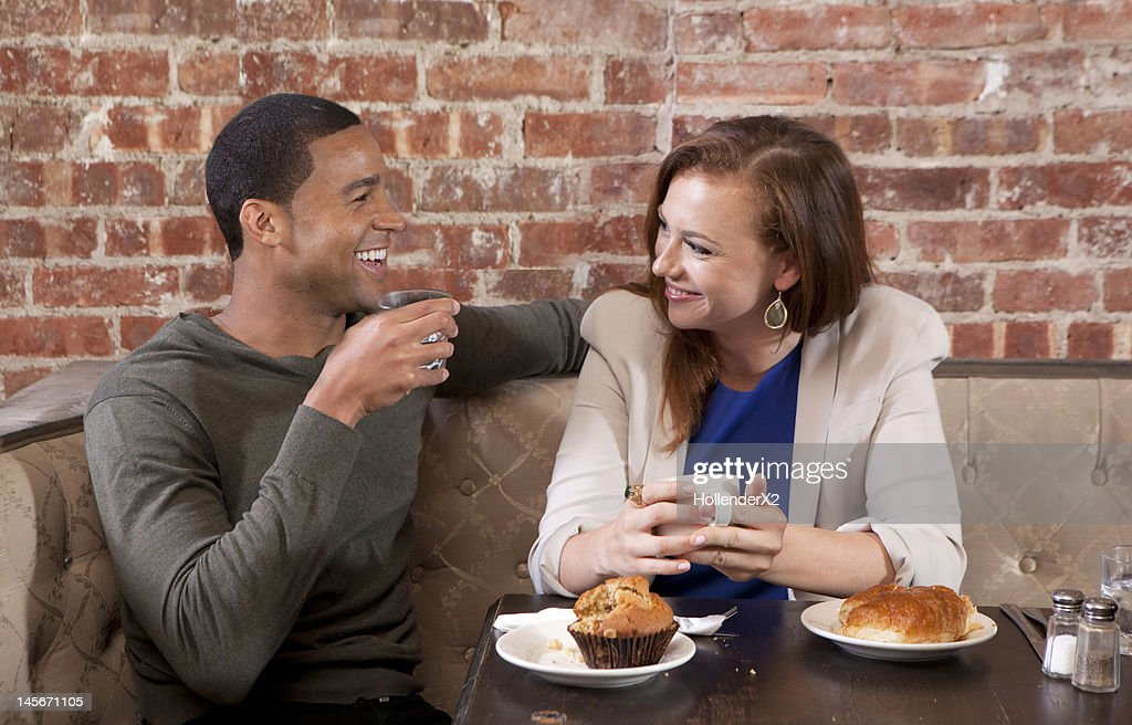 couple at coffee shop : Stock Photo