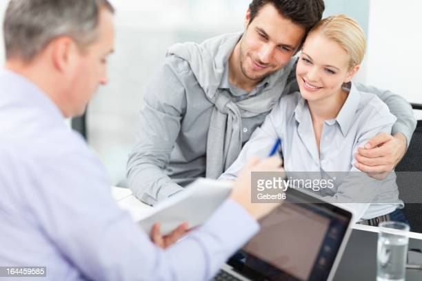 Couple at meeting with financial advisor