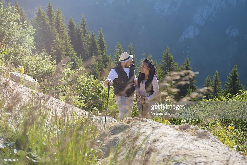 Couple at mountain : Stock Photo
