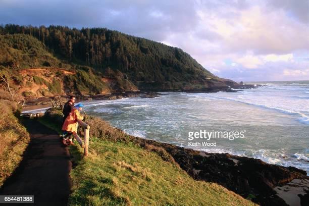 Couple at Oregon Coast