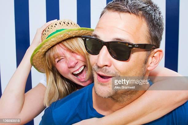 Couple at summer having fun