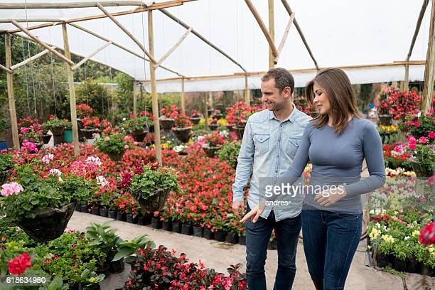 Couple at the greenhouse