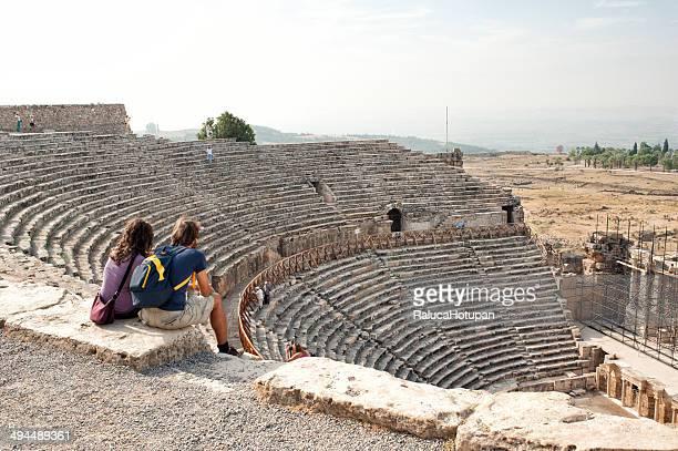 couple at the Hierapolis Theatre