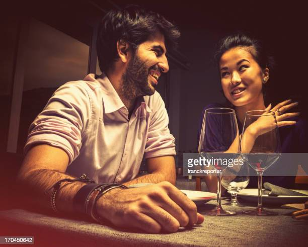 Couple au restaurant
