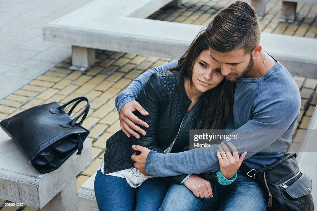 Couple breaking up : Stock Photo