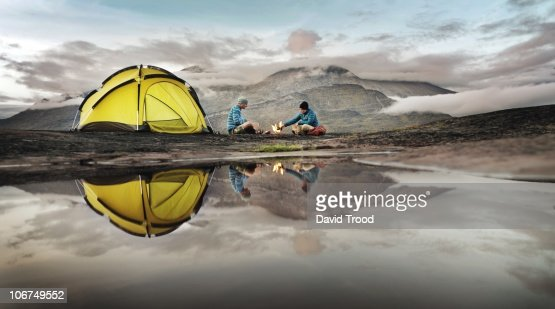 Couple camping in Southern Greenland : Photo