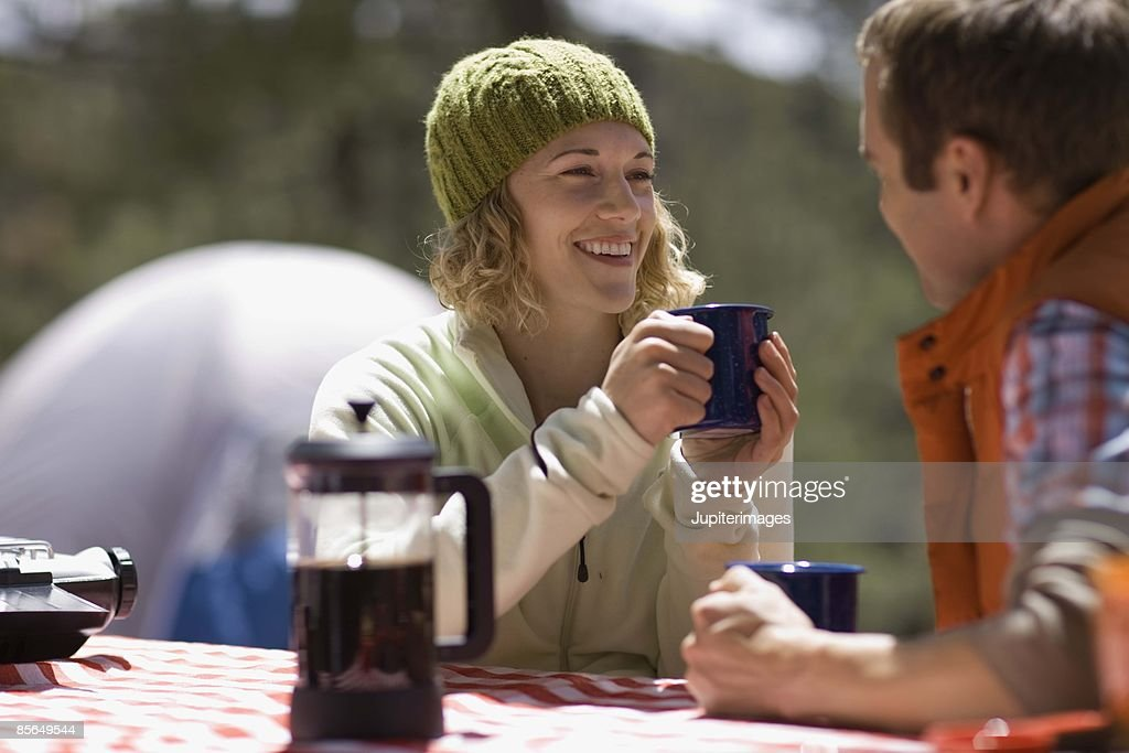 Couple camping : Stock Photo