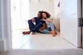 Couple Celebrating Positive Home Pregnancy Test Result