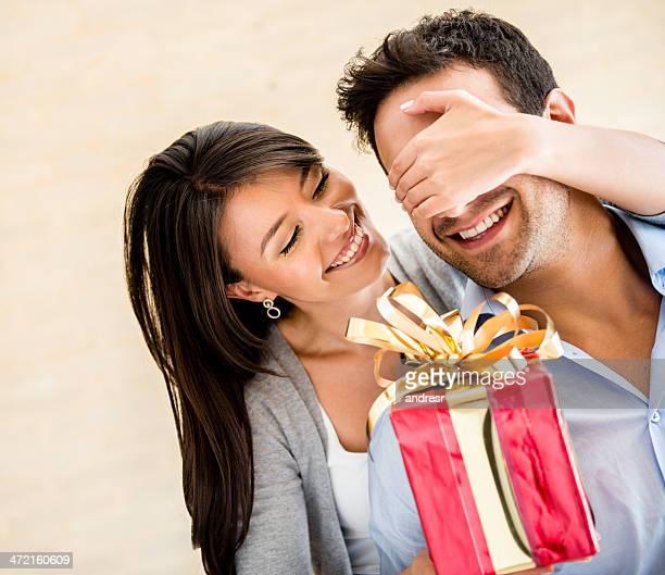 Pareja la celebración del día de San Valentín
