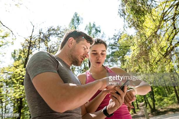 Couple checking pulse